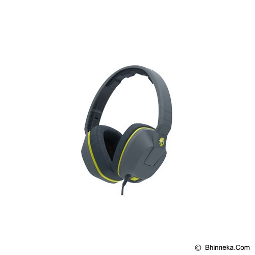 SKULLCANDY Crusher Over-Ear w/mic 1 [S6SCGY-134] - Gray/ Hotlime - Headphone Full Size
